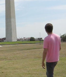 looking at obelisk